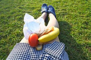 一人ピクニックの写真・画像素材[1716107]