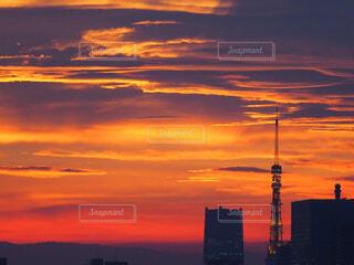 都会の夕日の写真・画像素材[1717480]