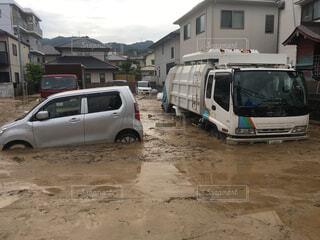 西日本豪雨の写真・画像素材[1715357]