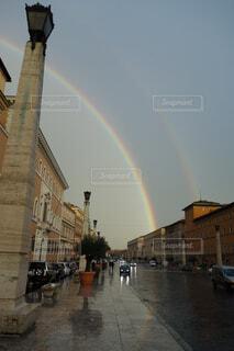 虹の街の写真・画像素材[1723645]