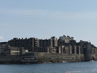 軍艦島です。の写真・画像素材[1027496]