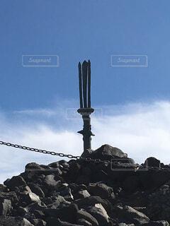 高千穂峰山頂の逆鉾の写真・画像素材[1593030]