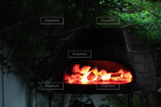 自宅の庭でピザの写真・画像素材[1722323]