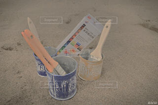 砂浜ペイントの写真・画像素材[2135241]