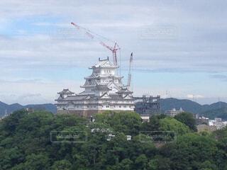 工事中の姫路城の写真・画像素材[1717305]