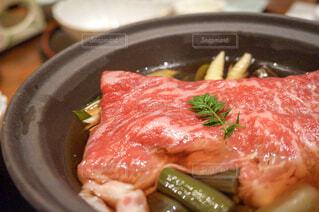 米沢牛のすき焼きの写真・画像素材[1725073]