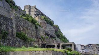 軍艦島の廃校と廃病院の写真・画像素材[1725095]