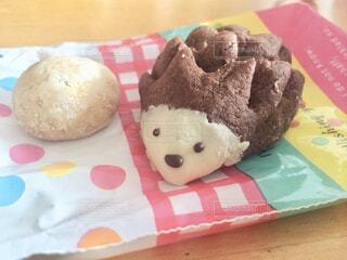 ハリネズミクッキーの写真・画像素材[1752536]
