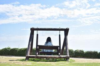 天空の庭でブランコ貸し切りの写真・画像素材[1717870]