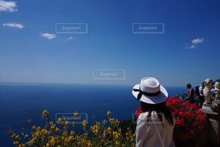 青のグラデーション(海と空)の写真・画像素材[1756041]