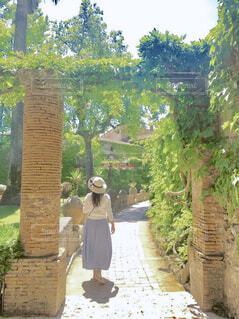 マイナスイオンたっぷりの庭園を歩くの写真・画像素材[1756058]