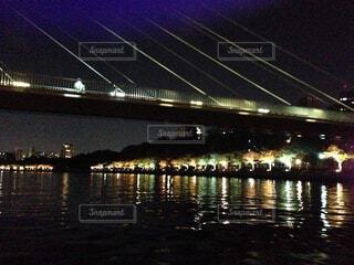 夜の遊覧船の写真・画像素材[1764420]