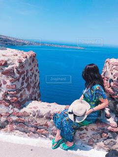 地中海を眺めるの写真・画像素材[1764491]