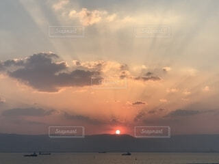 夕日の写真・画像素材[1837809]