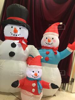 雪だるま人形の写真・画像素材[1717896]