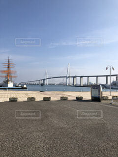 新湊大橋と海王丸の写真・画像素材[1807199]
