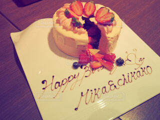 サプライズケーキの写真・画像素材[4664335]