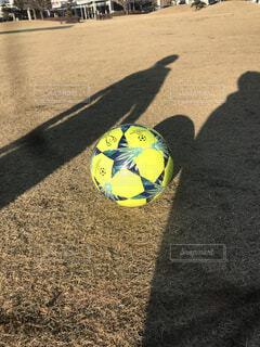 サッカーボールのアップの写真・画像素材[1725439]