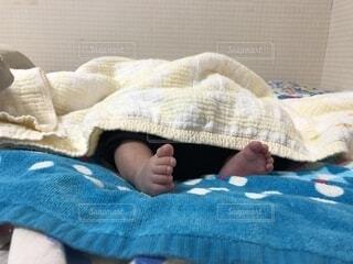 新生児のねんねの写真・画像素材[1722023]