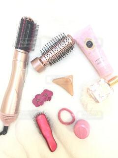 ピンクのヘアケア製品の写真・画像素材[1806005]