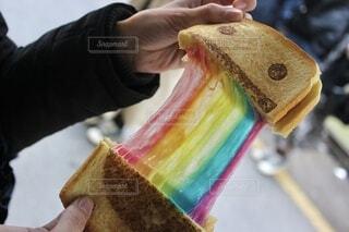 韓国にてレインボーパンの写真・画像素材[4135307]