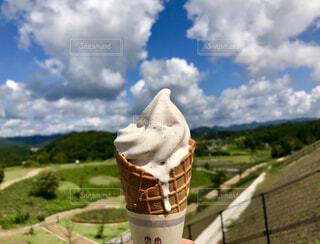 丹波の黒豆ソフトクリームの写真・画像素材[1724976]