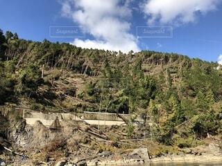 背景の山と木の写真・画像素材[1725646]