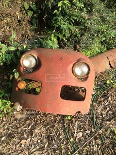 ロボットの顔みたいの写真・画像素材[1730000]