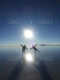 ウユニ塩湖の写真・画像素材[1728729]
