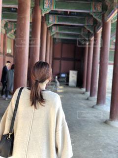 韓国観光の時の後ろ姿の写真・画像素材[1731180]
