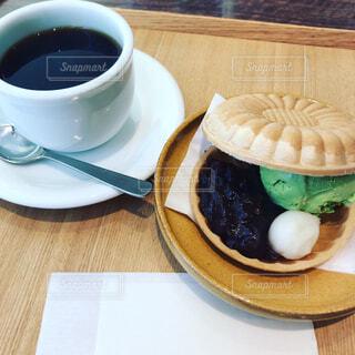 カフェのアイス最中の写真・画像素材[1769834]