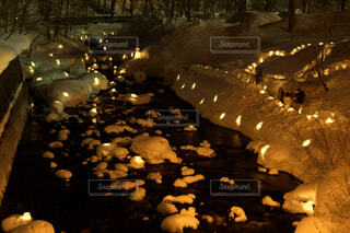 小樽雪あかりの路の写真・画像素材[1742710]
