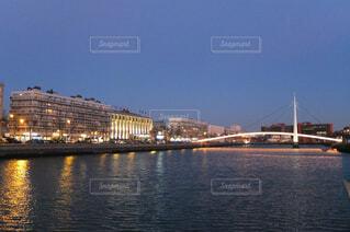 夜の河の写真・画像素材[1742298]