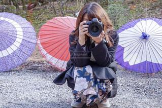 カラフルな傘の写真・画像素材[1734272]