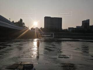 河川敷の写真・画像素材[4769999]