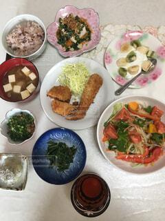 和食の朝食の写真・画像素材[2108090]