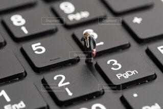 電卓のクローズアップの写真・画像素材[2437626]