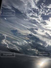 自然,風景,空,乗り物,絶景,白,雲,青,飛行機,旅行
