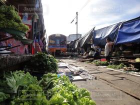 電車,屋台,観光,市場,タイ,世界
