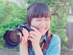 女性,1人,カメラ女子,人物,笑顔