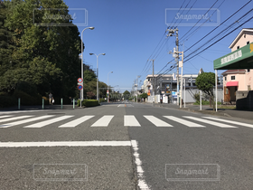 秋,道路,景色,横断歩道,キヨスイ