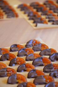 食べ物,スイーツ,オレンジ,果物,お菓子,チョコレート,バレンタイン,美味しい,チョコ,手作り,オレンジ色,コンフィ,ちゃいろ,オランジェット,ピール