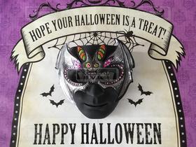 室内装飾,ハロウィン,コウモリ,Halloween,マスク,ハロウィンアイマスク