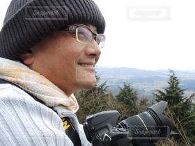 男性,1人,自然,アウトドア,冬,カメラ,山,撮影,ハイキング,山登り