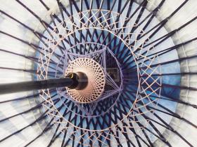 傘,きれい,青,紫,日本,和傘,伝統,職人,糸,幾何学,藍,手作業