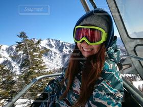 女性,自然,風景,アウトドア,冬,スポーツ,雪山,スノボ,ゲレンデ,スノーボード