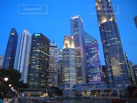 建物,夜景,ビル,シンガポール,仕事,ビジネス