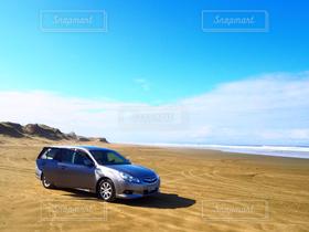 海,空,車,ドライブ,ニュージーランド
