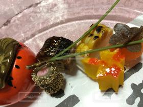 食べ物,秋,和食,旅館,柿,松葉,懐石
