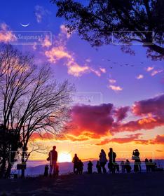 自然,風景,空,群衆,朝焼け